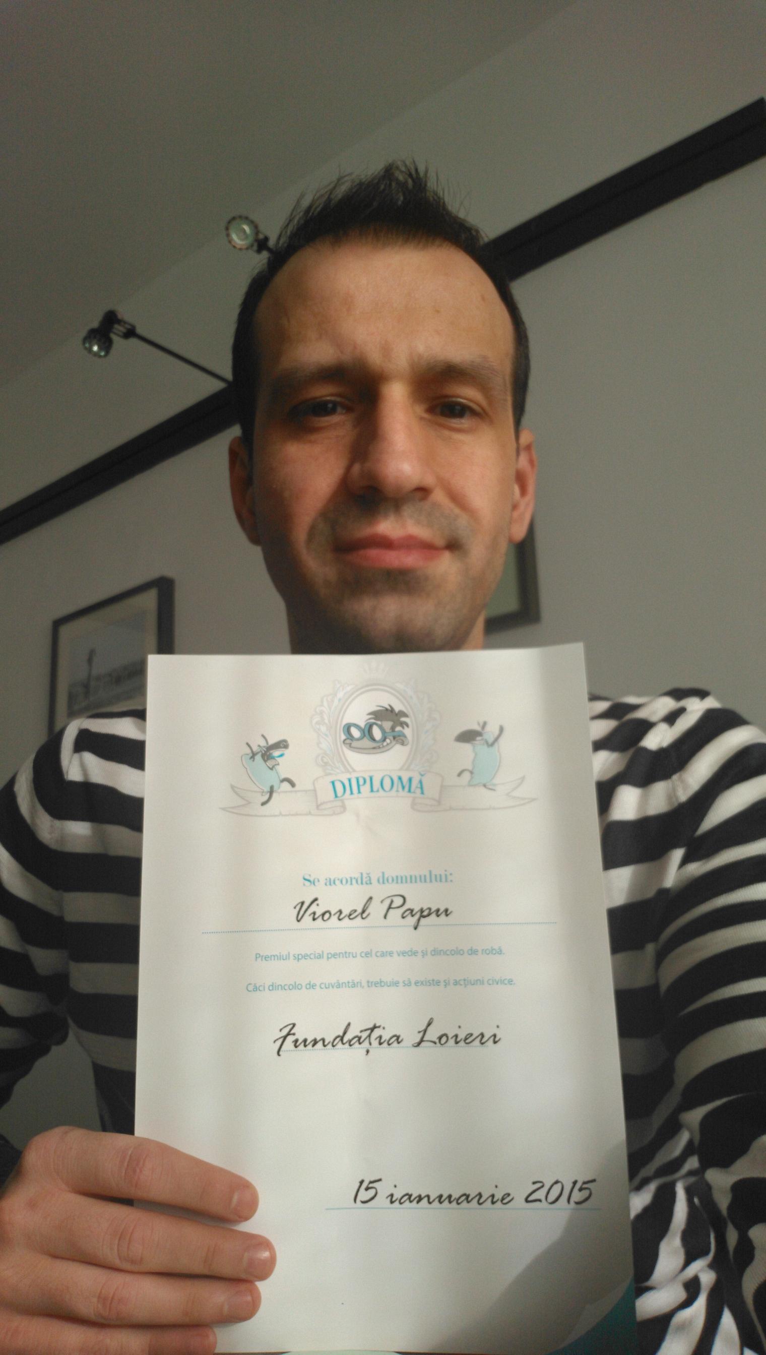 """Premiile Fundaţiei """"Loieri"""" 2014"""